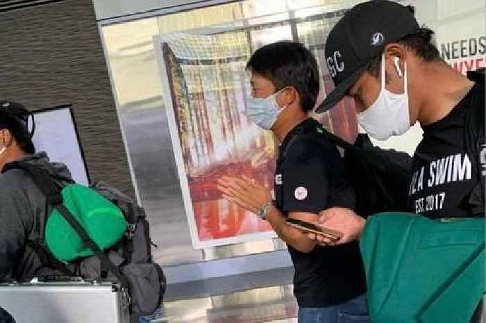 Humble Masters champ Hideki Matsuyama seen in airport with Green Jacket