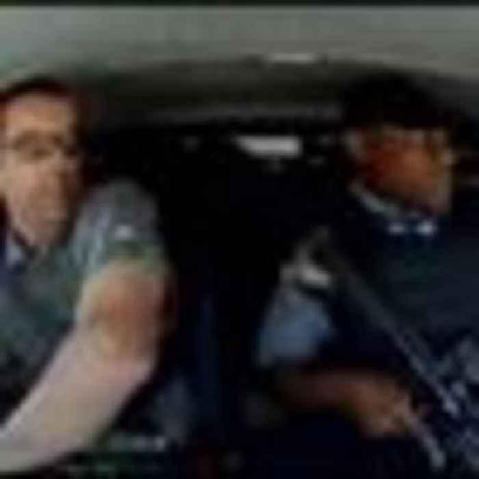 Cash van driver evades armed robbers as vehicle shot multiple times
