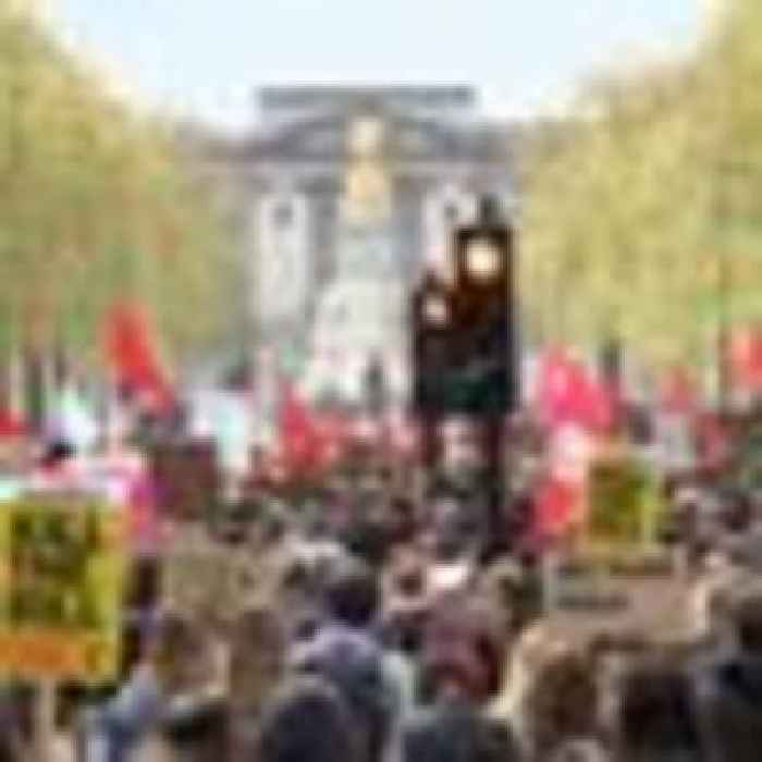 Thousands demonstrate against bill which gives police power to shut down protests