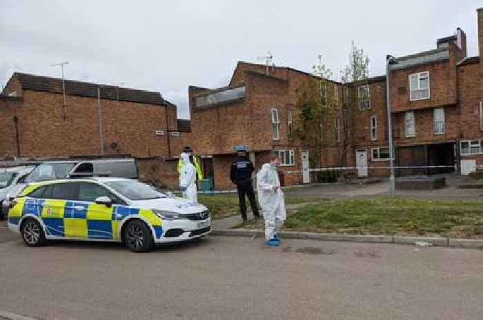 Forensics spotted on estate where man was stabbed to death