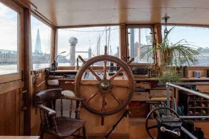Barge boasting stunning views of Tower Bridge being sold for £875k