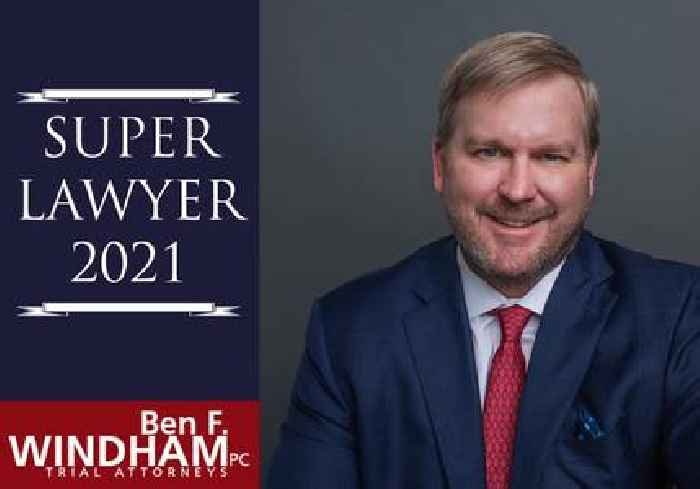 Clayton County Personal Injury Lawyer, Ben Windham, Named to Super Lawyers(R) 2021 List