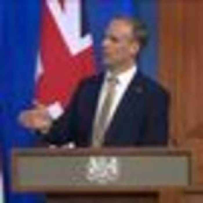 Raab says Russia's behaviour has 'got to change' at UK-US joint conference
