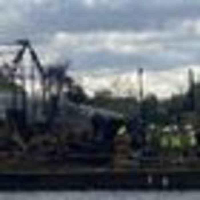 Dunkirk Little Ship destroyed in huge fire on island in River Thames
