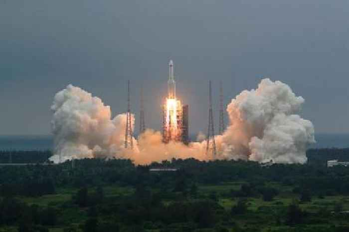 China says most rocket debris burned up during re-entry over the Indian Ocean