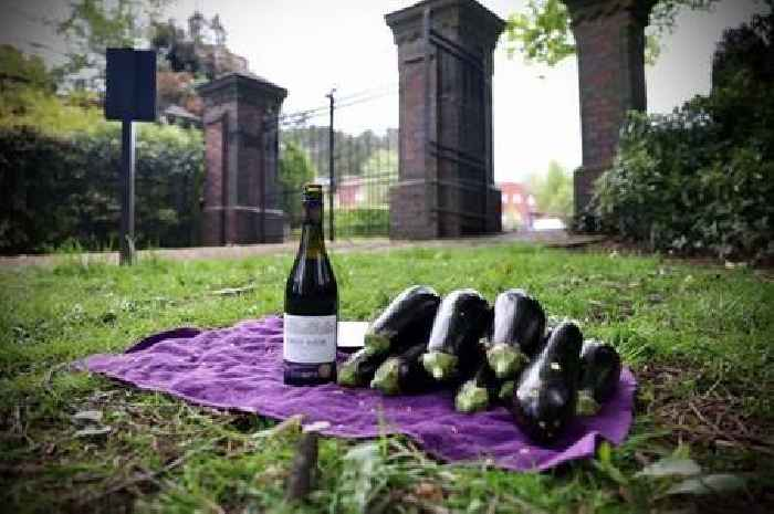 Mystery as aubergines, coins and wine left in Stoke Cemetery