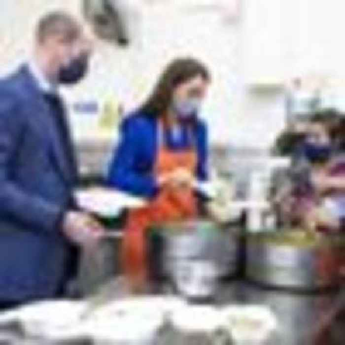 Prince William reveals Kate likes it spicy - as pair prepare curries for vulnerable families