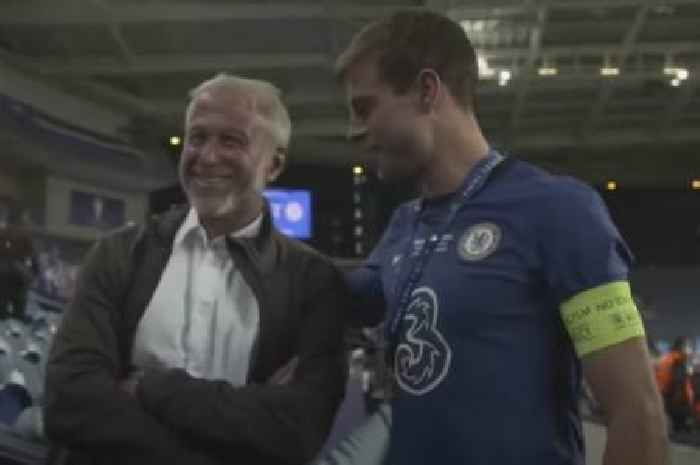 Cesar Azpilicueta's message to Chelsea owner Roman Abramovich in on-pitch chat