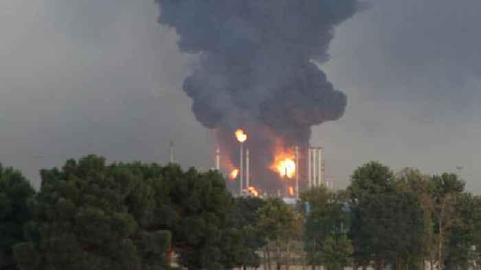 Iran: Oil Refinery On Fire Near Tehran