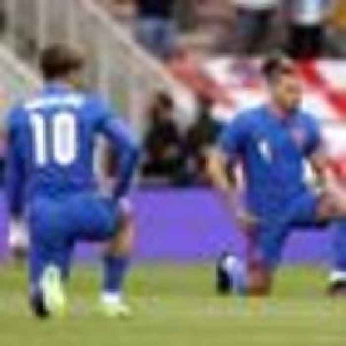 England booed again for taking the knee at Euro warm-up