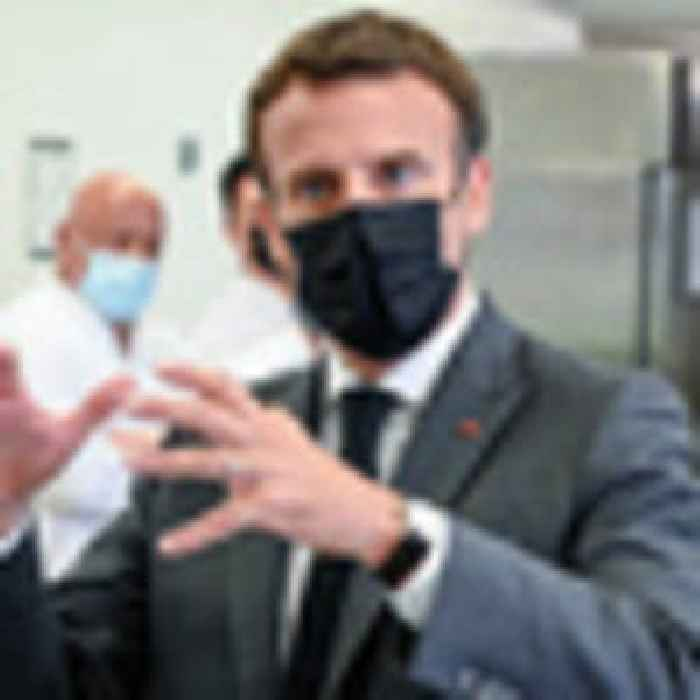 French leader Emmuel Macron slapped in the face during walkabout