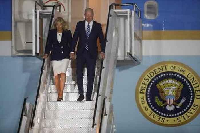 G7 Summit in pictures: US president Joe Biden arrives in Cornwall