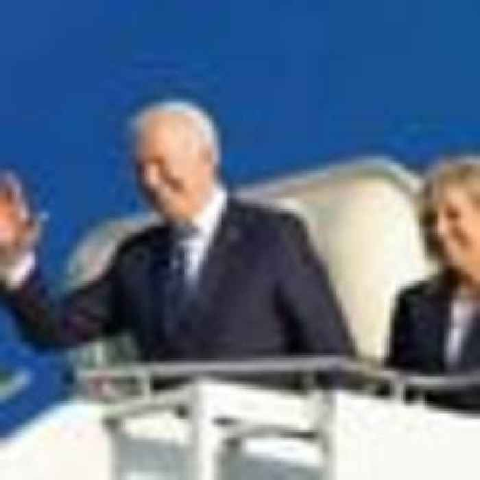 Biden arrives in UK ahead of G7 summit in Cornwall - his first official overseas trip as US president