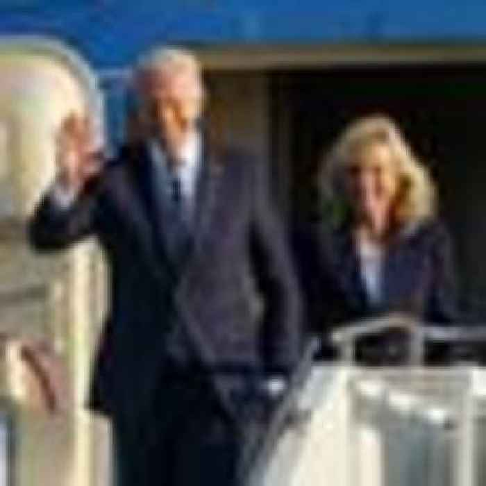 Biden arrives in UK for G7 summit in Cornwall - his first official overseas trip as US president