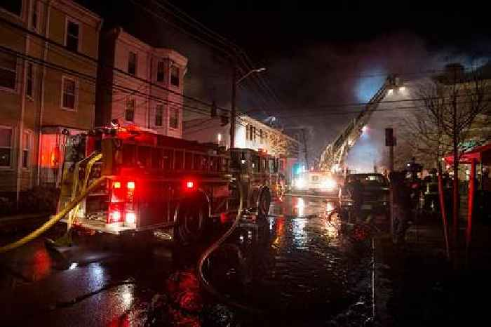 Firefighters Struggle to Combat Multi-Alarm Blaze in Lawrence, Massachusetts That is Consuming Line of Row Houses