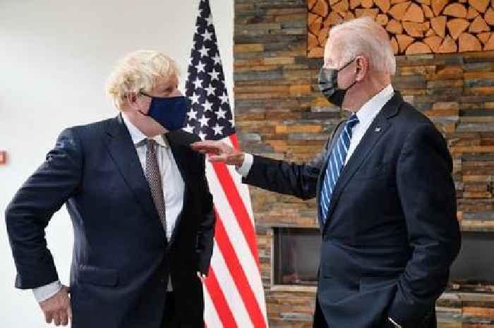 Boris Johnson presents gifts to Joe and Jill Biden ahead of G7 Summit