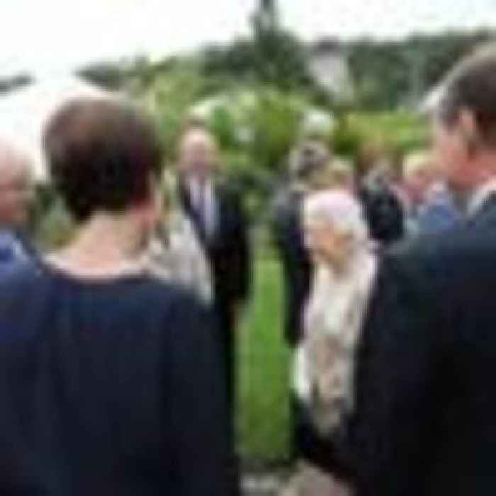 Queen charms prime ministers and presidents at G7 Summit
