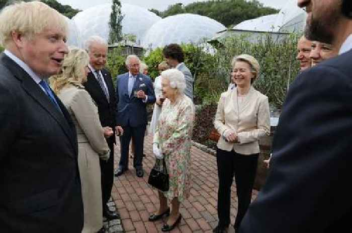 Queen and Boris agree it's 'awkward' meeting world leaders