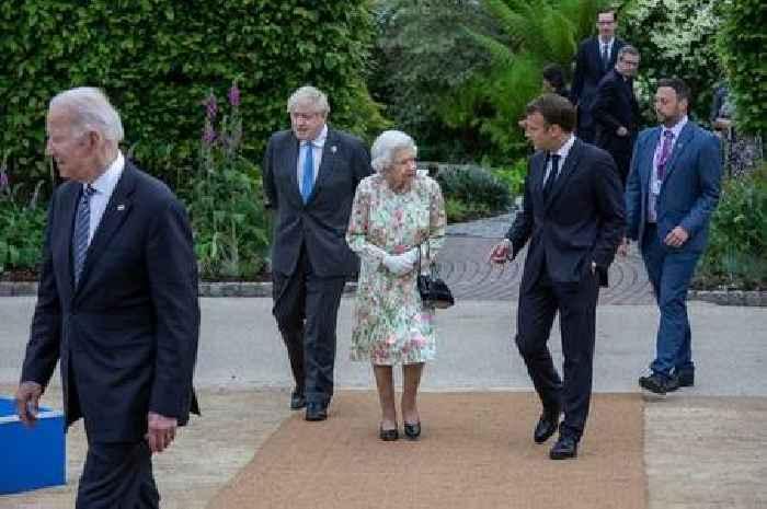 Queen tells Johnson meeting G7 leaders is 'awkward', says lip reader