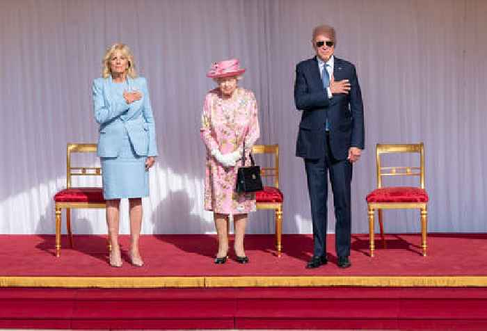 Joe Biden, First  Lady Meet Queen Elizabeth II; Royal Expert Claims Donning Glasses While Greeting Was Offensive