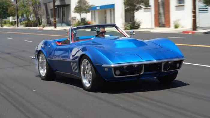 Garage-Built 1968 Chevy Corvette 427 Restomod Amazes With Explosive Paint Combo