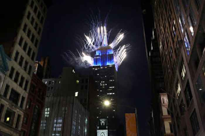 New Yorkers Celebrate With Firework Displays After Lifting of COVID-19 Restrictions, Honors Essential Workers