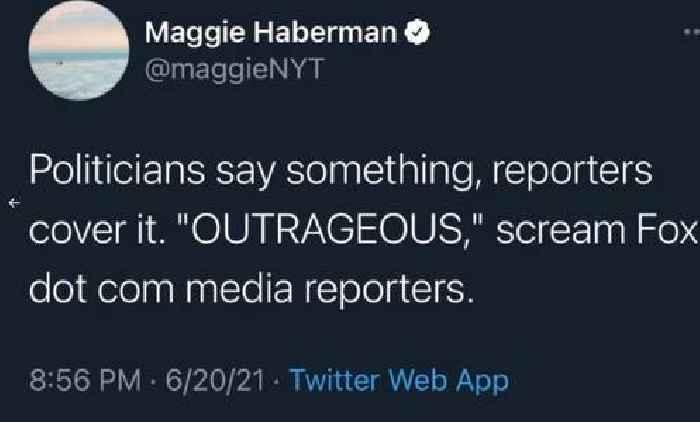 NYT's Haberman Deletes Tweets Ripping 'Garbage' Fox News Criticism of Media's Florida Parade Crash Coverage