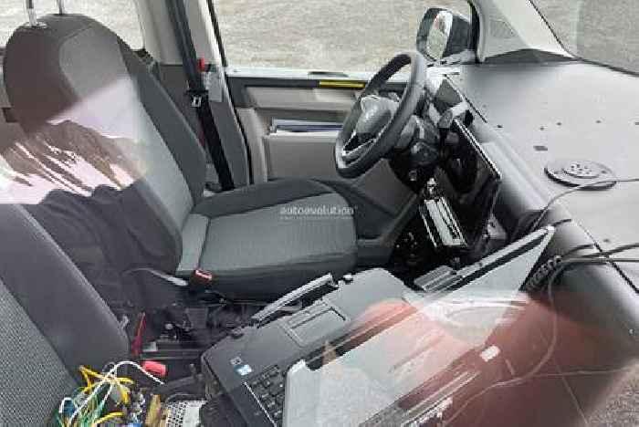 2024 Volkswagen ID.Buzz Microbus Test Mule Shows ID.3 Interior Hardware