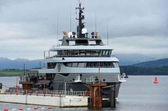 Luxury £68m superyacht owned by ex KGB Russian billionaire docks in Scots port