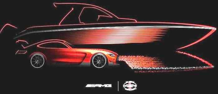 Mercedes-AMG GT Black Series Inspires 2022 Cigarette Racing Boat