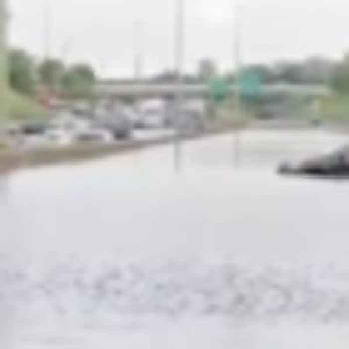 Eerie footage shows abandoned vehicles submerged by Michigan floods