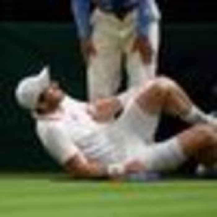 Murray latest to fall at 'extremely slippy' Wimbledon - as organisers defend 'meticulous' standards