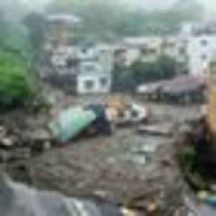At least 19 people missing after mudslide sweeps away houses in central Japan