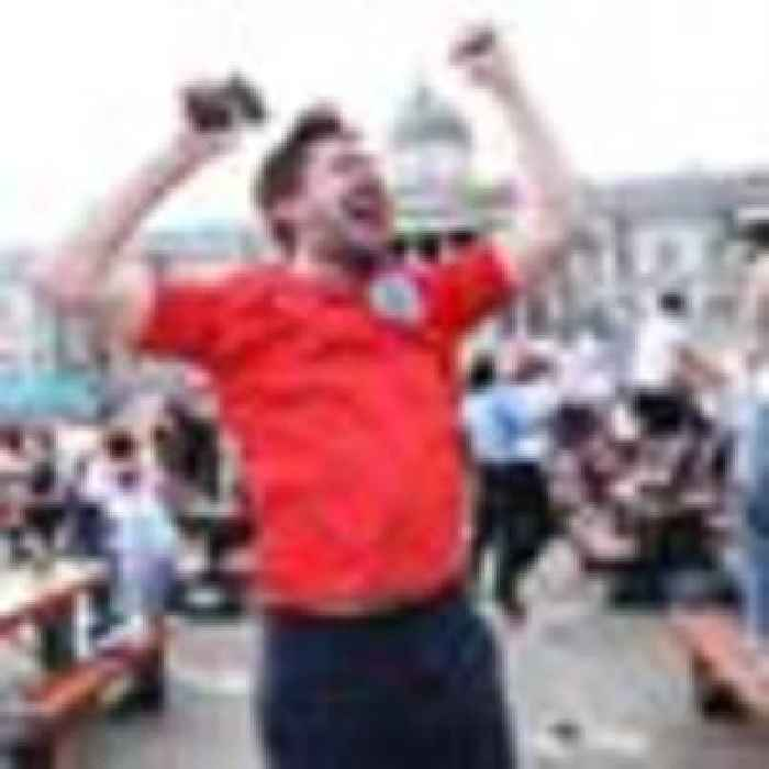'A huge singing and dancing party': Fans throw off COVID gloom to celebrate England's Euro 2020 win over Ukraine