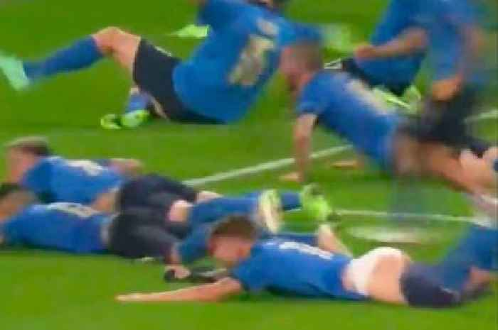 Italy star Ciro Immoble's pants fell down during Euro 2020 celebration blunder