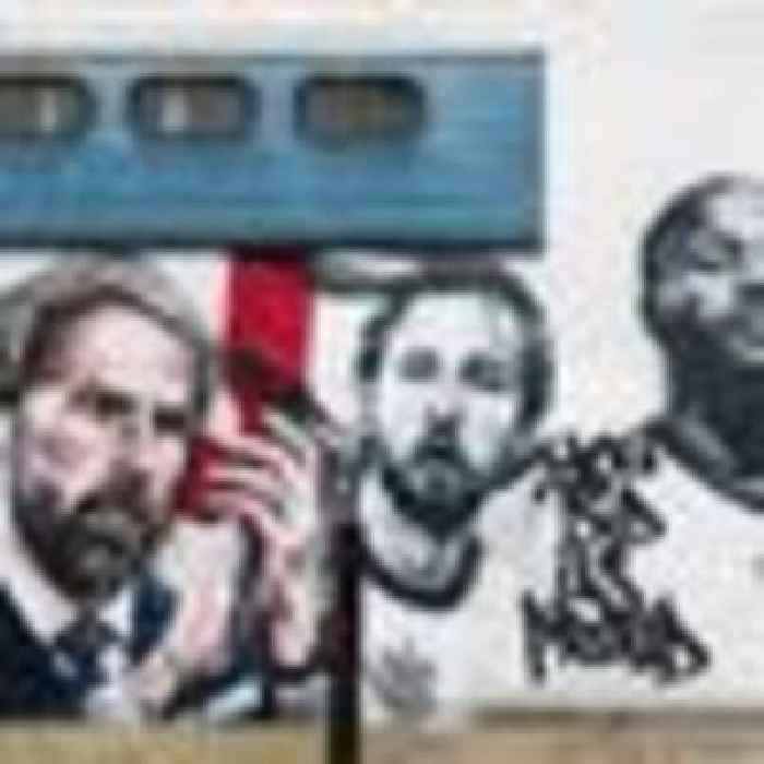 'You did us proud': Mural of Southgate, Kane and Sterling unveiled in London