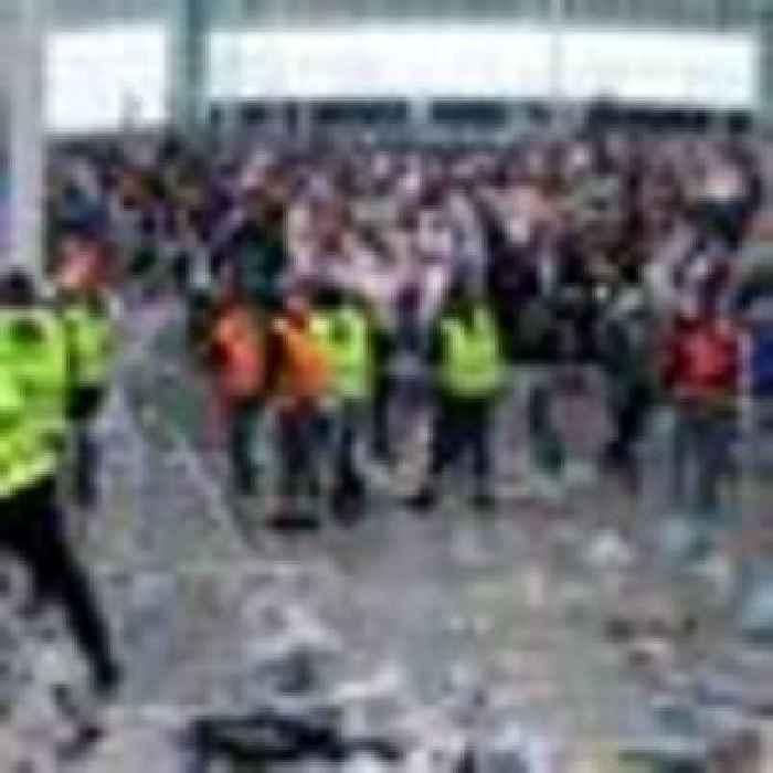 Harry Maguire's dad 'shook up' after suffering suspected broken ribs in Wembley 'stampede'