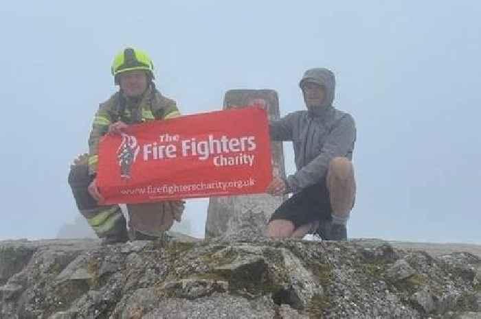 Stirling-born firefighter scales Ben Nevis wearing full kit