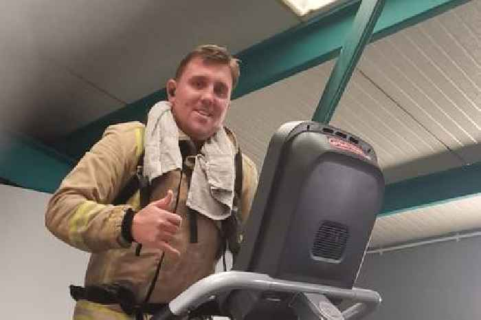 Firefighter completes 'hot and sweaty' charity challenge in memory of pal