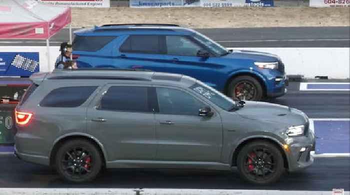 Dodge Durango SRT, Ford Explorer Go Drag Racing, Challenger Takes On the Winner