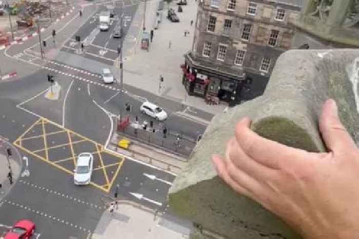 Stonemason shares terrifying video of wobbly building in Edinburgh city centre