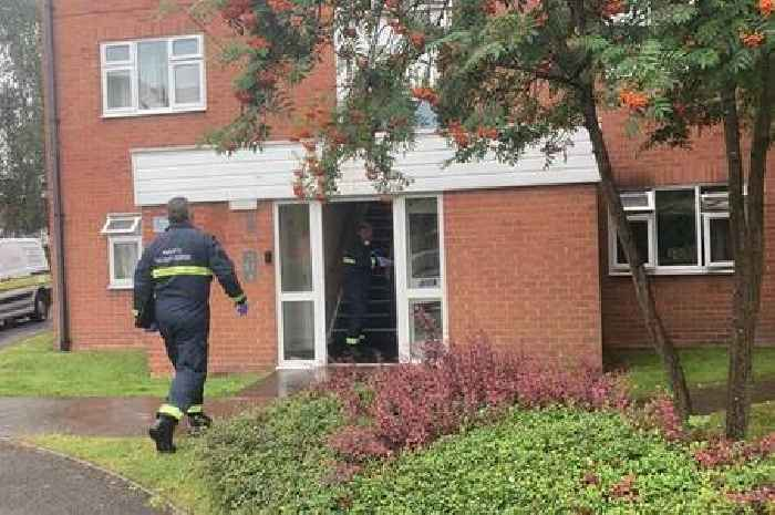 Woman dies after fire in flat, police confirm