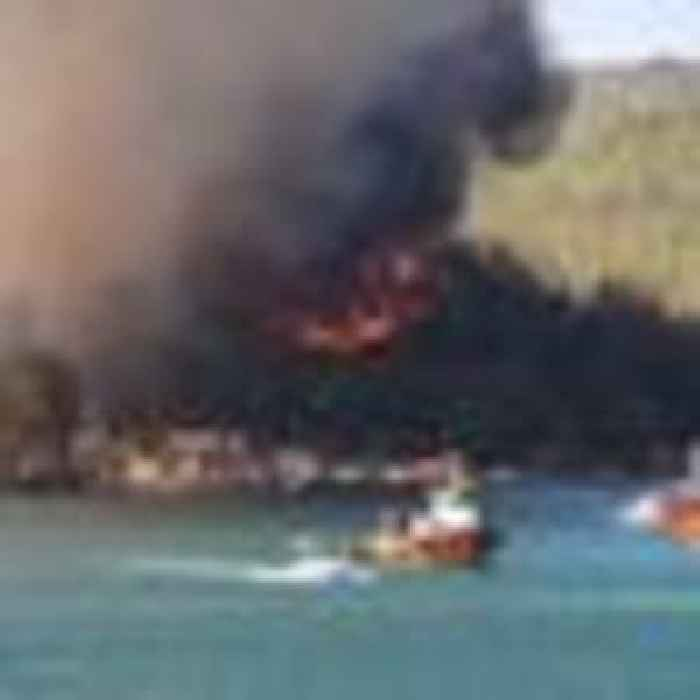Tourists evacuated by boat from holiday resort as Turkey wildfires burn