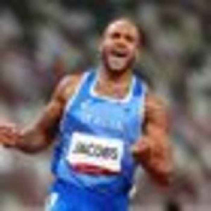 Lamont Marcell Jacobs wins Olympic men's 100m final with time of 9.79 seconds