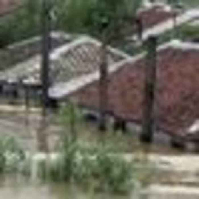 Thousands evacuated and homes destroyed by flooding in North Korea, amid worsening food shortage