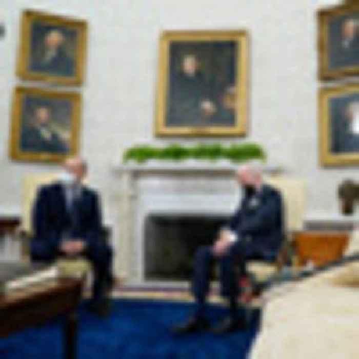 No, Joe Biden did not fall asleep in meeting with Israeli PM