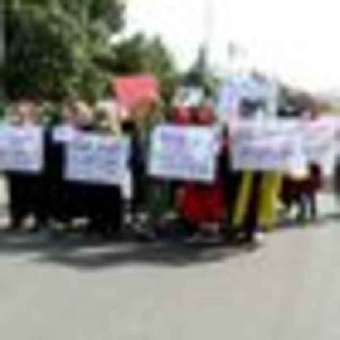 Taliban fire into air at anti-Pakistan protest as UN warns basic services on verge of collapse