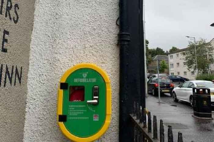 Life-saving defibrillator installed at busy spot in Lanarkshire town