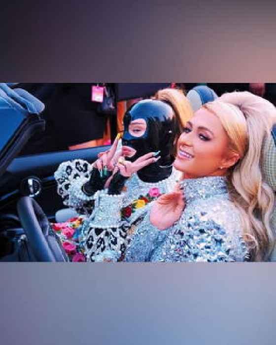 Paris Hilton Drives Kim Petras to the VMAs, in Yet Another Bubblegum Pink Car