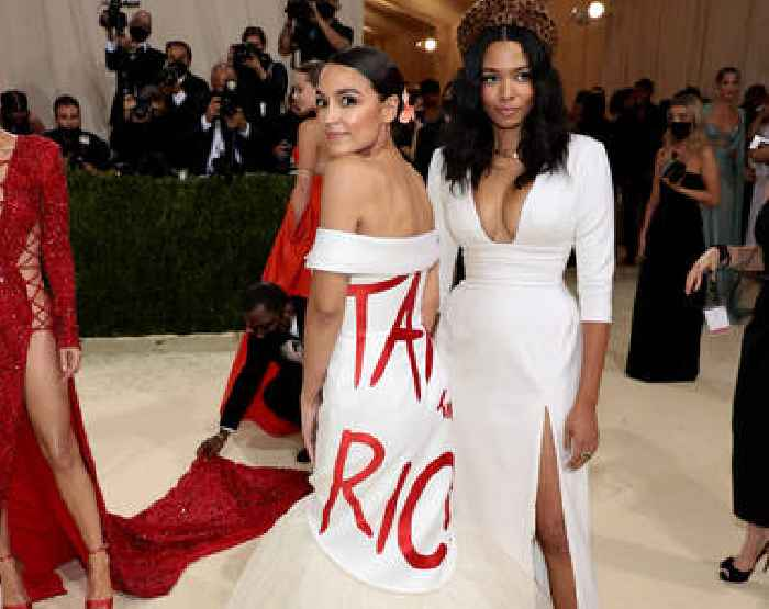 Designer of AOC's 'Tax The Rich' Met Gala Dress Owes Over $100K in Back Taxes, Accused of Being a Rent Deadbeat and Running 'Sweatshop' of Unpaid Interns: Report
